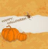 Halloween-achtergrond met gescheurd document Stock Foto's