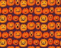 Halloween-achtergrond met grappige pompoenen Royalty-vrije Stock Fotografie