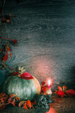Halloween-achtergrond met pompoen Stock Afbeelding