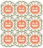 Halloween-achtergrond met symmetrisch patroon Stock Foto's