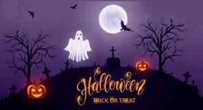 Halloween-achtergrond, pompoen Groetkaart voor partij en verkoop De herfstvakantie Stock Foto
