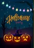 Halloween-achtergrond, pompoen Groetkaart voor partij en verkoop De herfstvakantie Stock Foto's