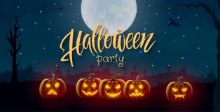 Halloween-achtergrond, pompoen Groetkaart voor partij en verkoop De herfstvakantie Royalty-vrije Stock Fotografie