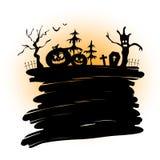Halloween-achtergrond voor uw ontwerp Stock Afbeeldingen