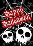 Halloween-achtergrond in zwarte tonen Royalty-vrije Stock Foto's