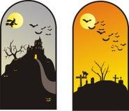 Halloween-achtergronden Stock Afbeelding