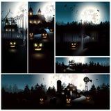 Halloween-achtergronden stock illustratie