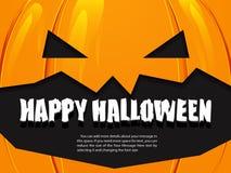 Halloween-achtergrondpompoen Royalty-vrije Stock Foto's