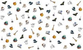 Halloween-achtergrondthema Royalty-vrije Stock Afbeeldingen