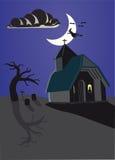 Halloween achtervolgde plaats Stock Afbeeldingen