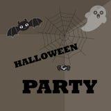 Halloween-affiche, achtergrond Royalty-vrije Stock Fotografie