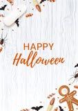 Halloween-affiche met snoepjes Royalty-vrije Stock Foto