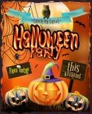 Halloween-affiche voor vakantie Eps 10 Royalty-vrije Stock Afbeelding