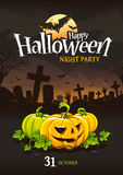 Halloween-Afficheontwerp Royalty-vrije Stock Foto