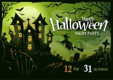 Halloween-Afficheontwerp Royalty-vrije Stock Afbeeldingen