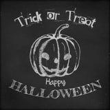 Halloween-afficheontwerp - Hand getrokken pompoen Royalty-vrije Stock Afbeelding