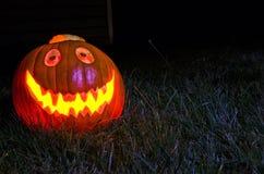 Halloween affronta la scultura della zucca Fotografia Stock