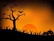 Halloween afton Royaltyfri Fotografi