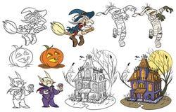 Halloween ajustou 2 Fotos de Stock