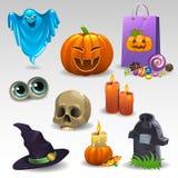 Halloween ajustou 2 Fotografia de Stock