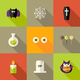 Halloween ajustó iconos planos fijó 1 Libre Illustration