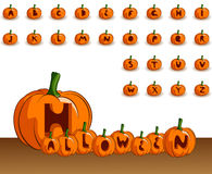 Halloween alphabet Royalty Free Stock Photo