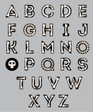 Halloween-Alphabet Stockbilder
