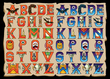 Halloween Alphabet Letters Set Royalty Free Stock Photo