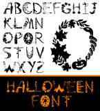 Halloween Alphabet Set. Halloween design vector font. Spooky and Magical Alphabet Set Royalty Free Stock Image