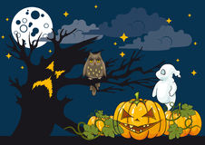 Halloween als thema gehade illustratie Royalty-vrije Stock Afbeelding