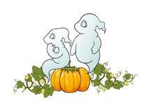 Halloween als thema gehade illustratie. Stock Afbeeldingen