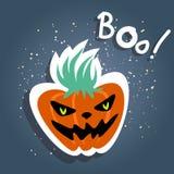 Halloween angry pumpkin Royalty Free Stock Photos