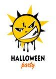 Halloween angry sun Royalty Free Stock Photos