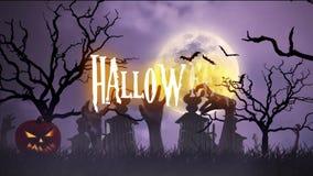 Halloween animation stock footage