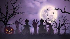 Halloween animation stock video