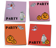 Halloween-Anmerkung stock abbildung