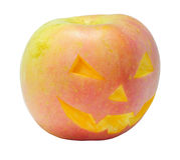 Halloween-Apfel Lizenzfreie Stockfotografie