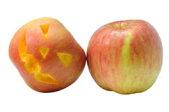 Halloween-Apfel Lizenzfreies Stockfoto