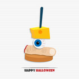 Halloween appetizer. Vector illustration of Halloween canape for your design Stock Photography