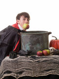 Halloween Apple Bobbing Game Success Royalty Free Stock Photo