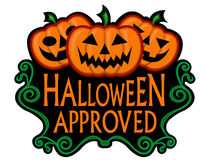 Halloween Approved Seal stock illustration