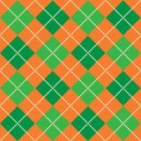 Halloween Argyle. Background illustration of orange and green argyle pattern Stock Photography