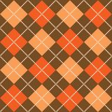 Halloween Argyle. Background illustration of orange and brown argyle pattern Stock Images