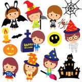 Halloween żartuje klamerki sztuki set Obraz Stock