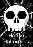 Halloween background with skull Stock Photos