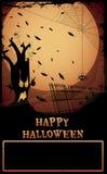 Halloween assombrou a árvore Fotografia de Stock Royalty Free
