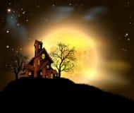 Halloween assombrou a casa Imagens de Stock Royalty Free