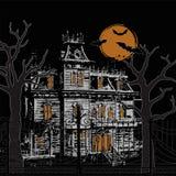 Halloween assombrou a casa Imagem de Stock