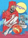 Halloween assustador Fotos de Stock Royalty Free