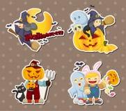 Halloween-Aufkleber stockbilder